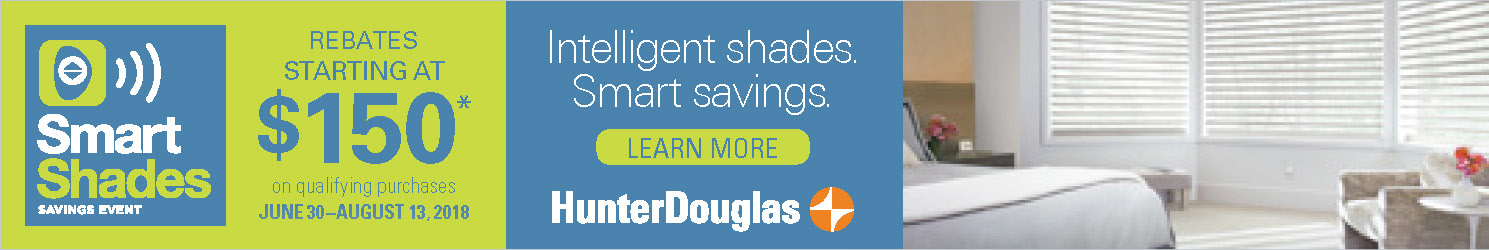 2018 Hunter Douglas Smart Shades Savings Event