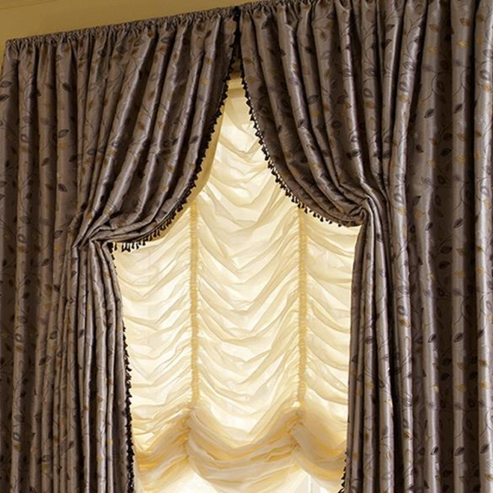 how to add drapes to shades