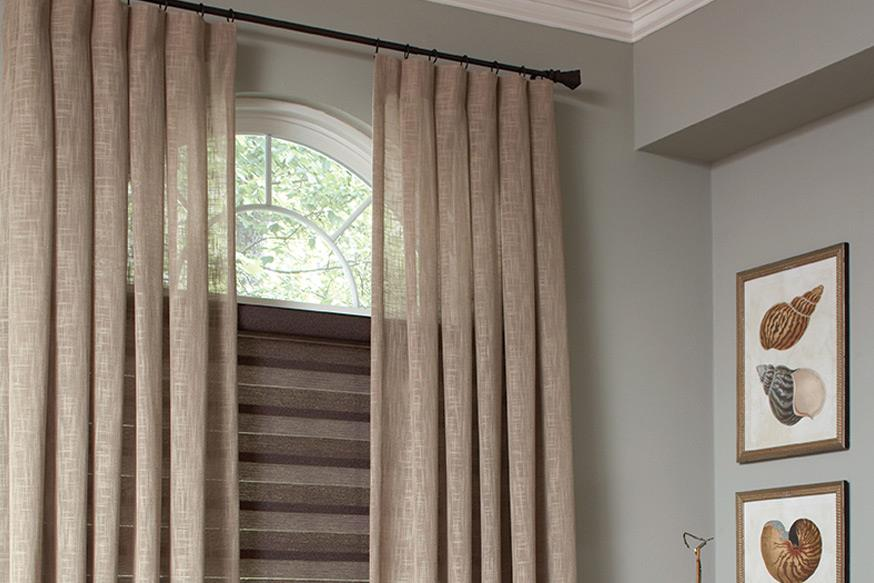 Flat Roman Shade With Tape Trim